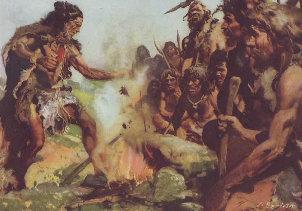Древние племена на территории Сочи, художественное изображение