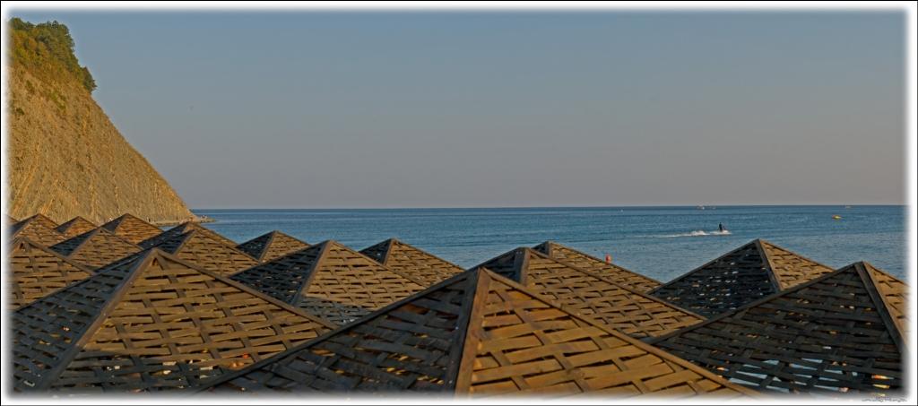 Отдых в Архипо-Осиповке. Пляж.