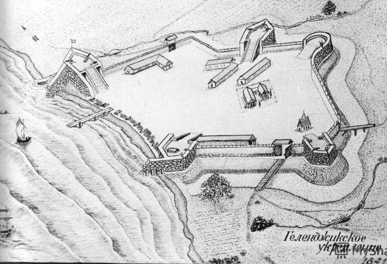 История Геленджика, план фортификационного укрепления, 19 век