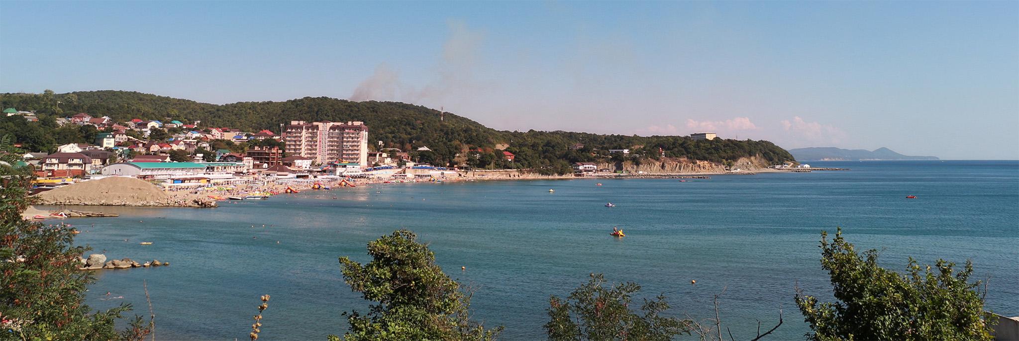 Отдых в Джубге, панорамный вид побережья
