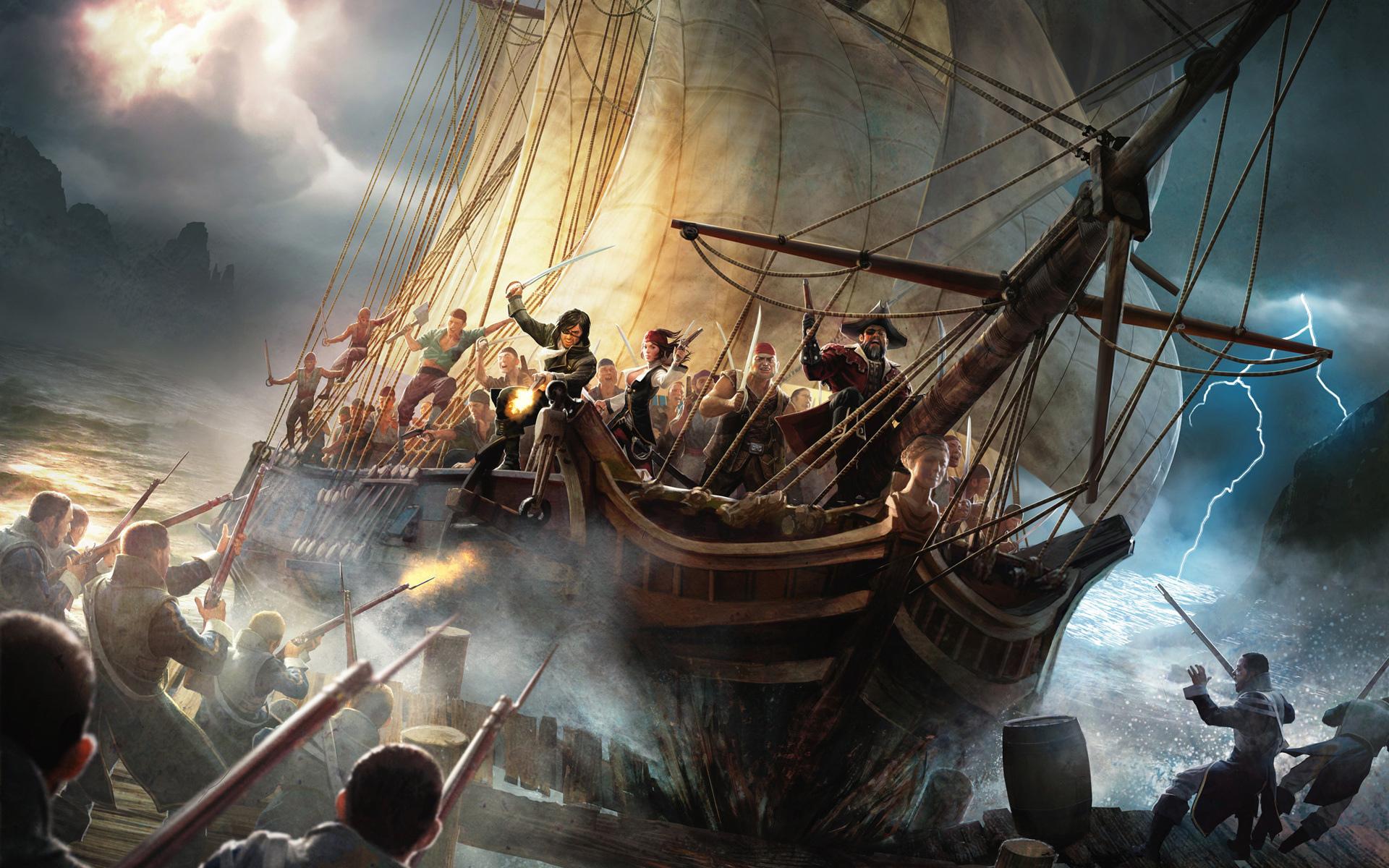 пираты черного моря нападают на корабль