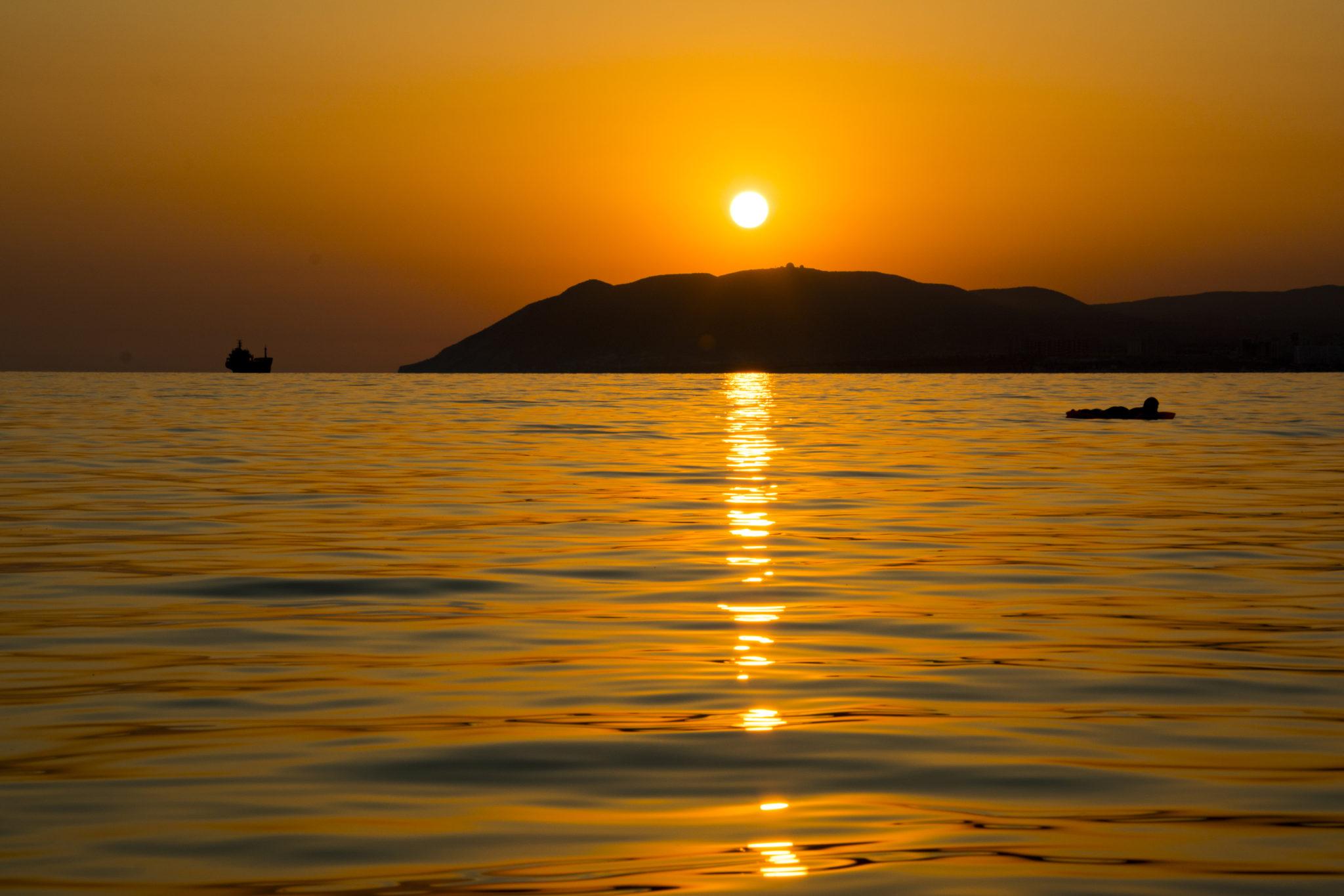 Отдых в Кабардинке, закат на море