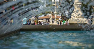 Отдых в Кабардинке, фонтан