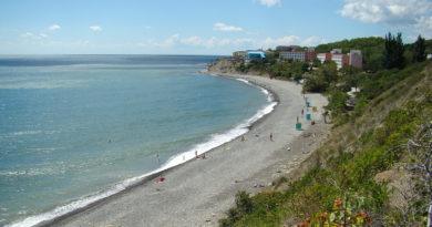 """Отдых в Широкой Балке, вид на пляж """"Лукоморье"""""""