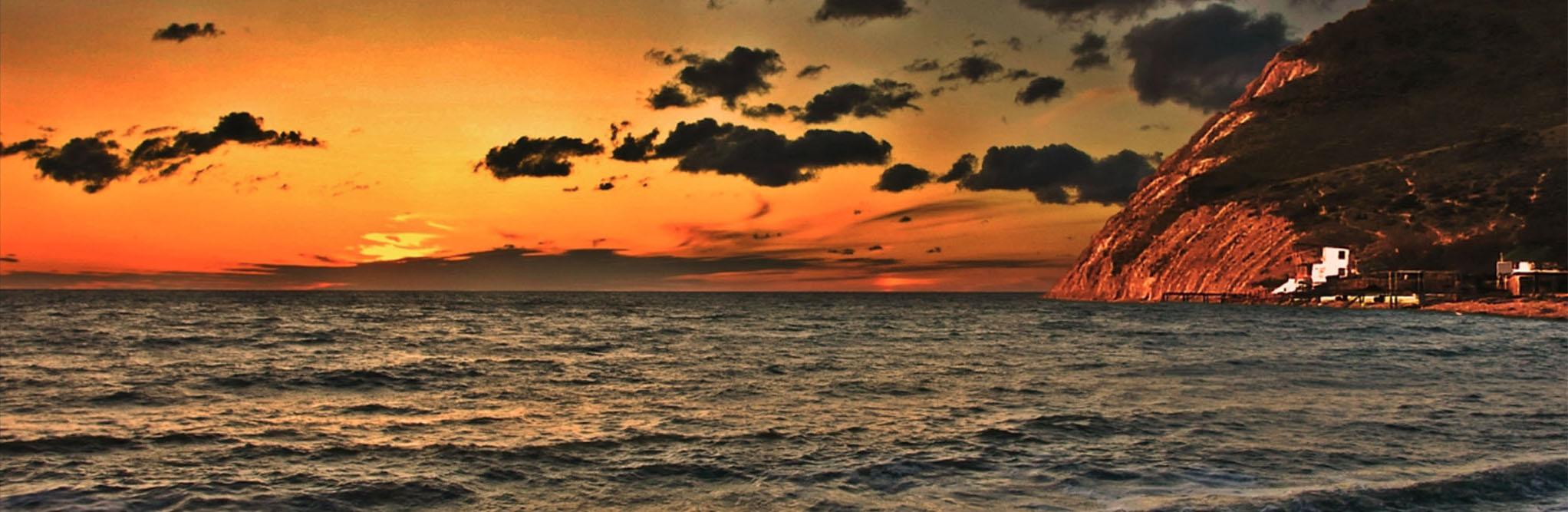 Отдых в Южной Озереевке, панорама вечернего моря