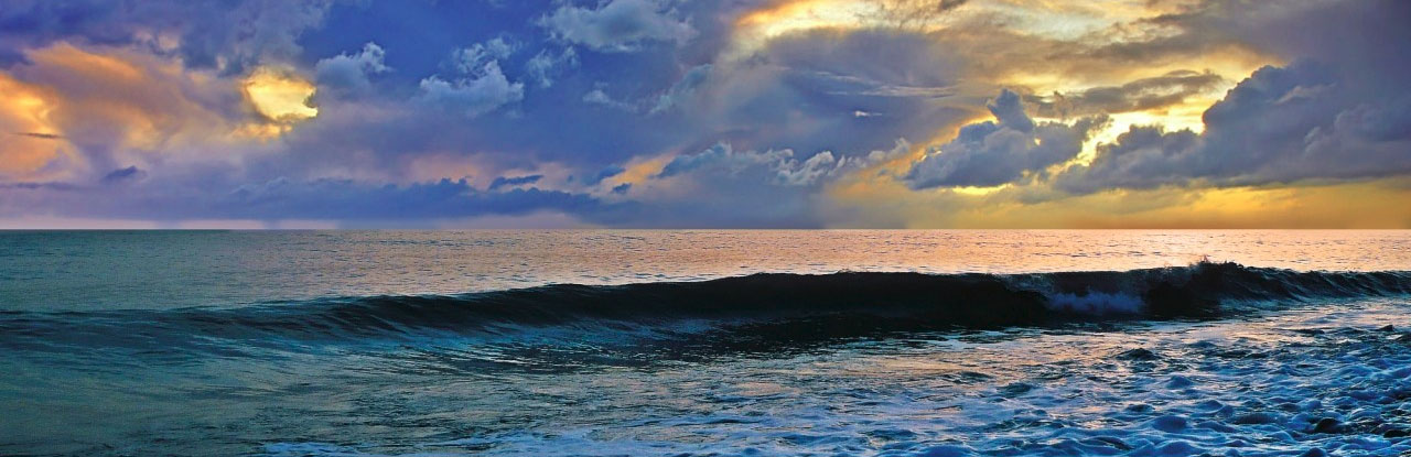 Отдых в Южной Озереевке, панорама моря