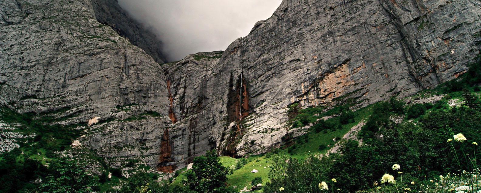 Вид на Пшехский водопад