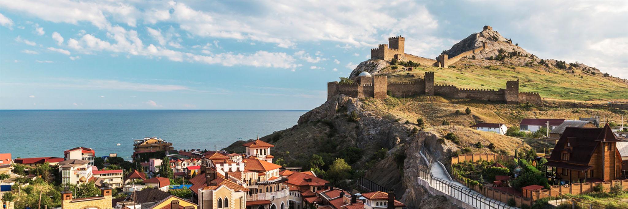 Генуэзская крепость в Судаке, панорамный вид