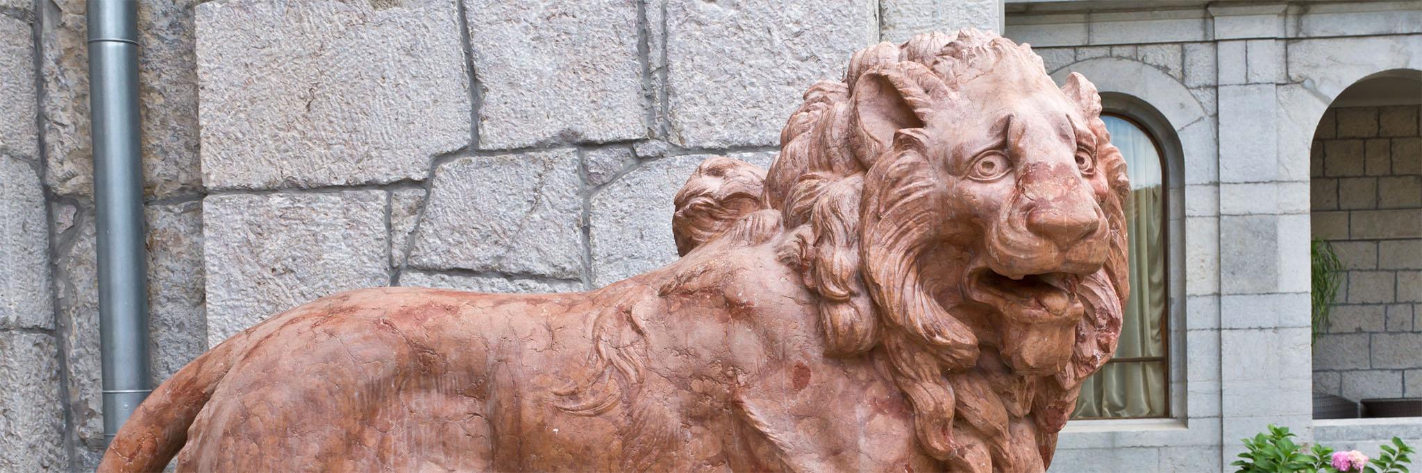 Статуя льва в Юсуповском дворце