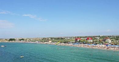 Отдых в Черноморском, пляж