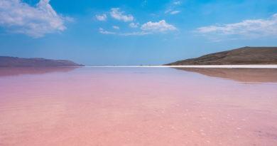 Кояшское озеро в Крыму